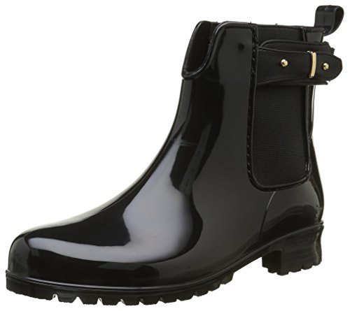 Be Only WoMen Kansas Wellington Boots, Black Black (Noir)
