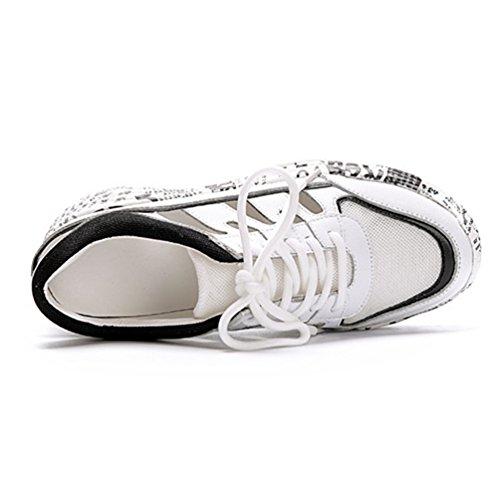 Loisir Femme de Confort Cuir Sports Multicolore Mode Baskets Sneakers Chaussures Casuel Antidérapante xtpqwHBEx
