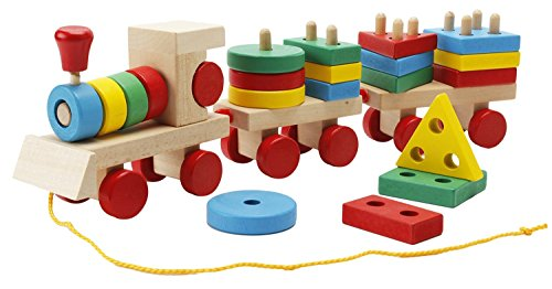 Wooden Block Train - 2