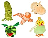 Cloudy with a Chance of Meatballs 2 Plush Watermelophant, Pickles Pickle, Hippotatomus, Fruit Cockatiel and Shrimpanzee Foodimals
