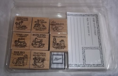 Stampin Up Bon Appetit Rubber Stamps & Recipe Cards