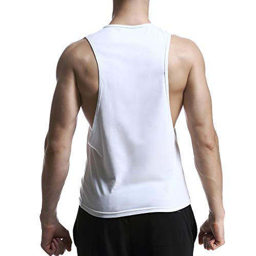 Allywit-Mens t Shirts,Sleeveless Skull Print Vest Tank Top Casual Blouse Sweatshirts Big and Tall White by Allywit-Mens (Image #4)