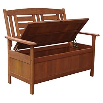 Amazon.com : Lautan LLC Kalbarri Garden Storage Bench Unique Style ...