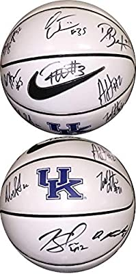 2014-15 Kentucky Wildcats Team signed Nike Logo Basketball w/ 10 sigs- Karl-Anthony Towns- JSA/BAS Guaranteed to Pass - PSA/DNA Certified
