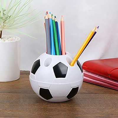 Portalápices creativo con forma de balón de fútbol, soporte para ...