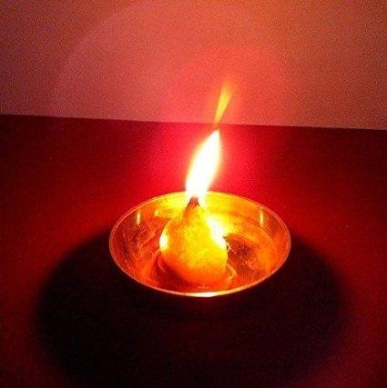 artcollectibles Inde 2x rond pūjā coton Mèches pour lampe à huile/éclairage Diya, hindou pūjā hindou pūjā Artcollectibles India