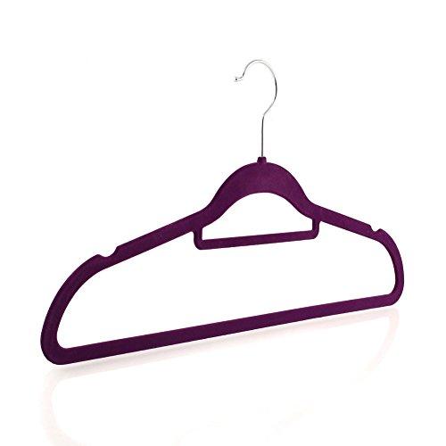 Homfa Coat Hangers 20pcs Anti-slip Flocking Clo...