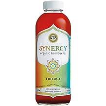 GT'S ENLIGHTENED KOMBUCHA Synergy Organic Kombucha Tea, Trilogy, 16.2 Ounce (Pack of 12)