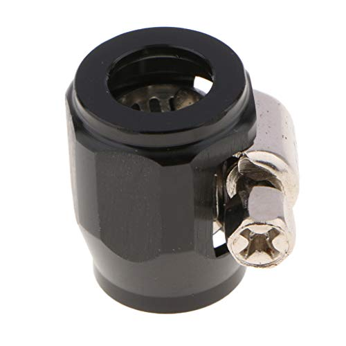 Flameer Rust And Corrosion Resistance 4AN AN 4 AN -4 Fuel Hose Line End Cover Clamp Finisher Fitting - -