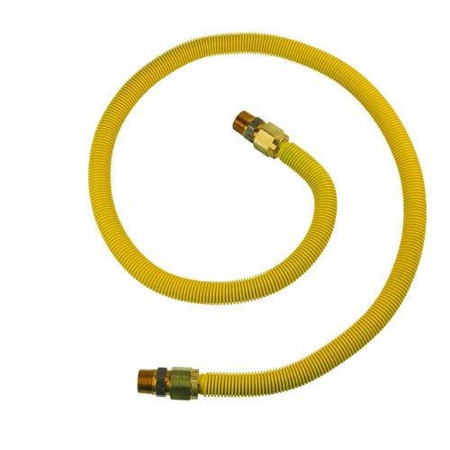 BrassCraft CSSB11-60 ProCoat 3/4'' MIP x 3/4'' MIP x 60'' Stainless Steel Gas Connector 3/4'' I.D. (197,400 BTU)