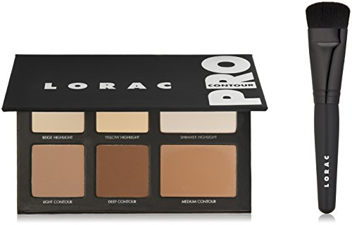 LORAC Pro Contour Palette Plus Contour Brush, Multi (Best Contour Palette For Oily Skin)