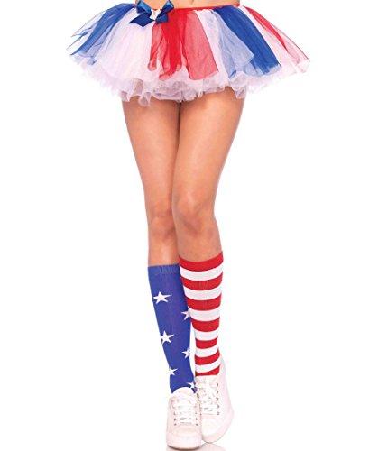Leg Avenue Women's Stars and Stripes Knee High Socks - Multicolor - One Size