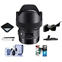 Sigma 14mm f/1.8 DG HSM ART Lens for Sigma DSLR Cameras - Bundle With Lens Wrap, Flex Lens Shade, Cleaning Kit, Capleash II, Lenspen Cleaner, Software Package