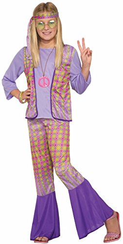 70s Girl (Generation Hippie Love Child Girls Halloween Costume 1970s Flower Power SM-MD-LG)