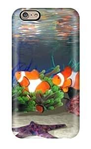 Hard Plastic Iphone 6 Case Back Cover,hot Moving Fish Aquarium Case At Perfect Diy
