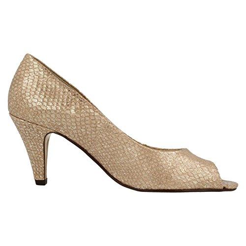 Metallic tacón mujer de Dal Zapatos Van Taupe nxSwqZ8TYP