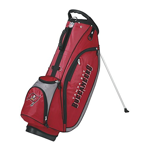 Wilson NFL Tampa Bay Buccaneers Carry Golf Bag, Red/Grey, One Size