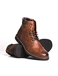 BLACKWELL Huxley Mens Vegan Leather Boot with Rubber Sole & Memory Foam Insole with Memory Foam Insoles