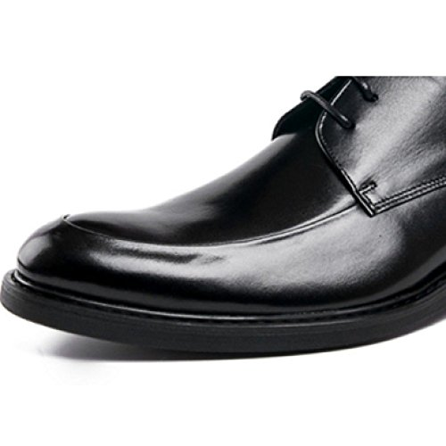 Pelle Coreano Britanniche Scarpe Rotonda Moda in Pelle Scarpe Basse Moda Scarpe NIUMJ Uomo Scarpe da Stringate alla Scarpe Testa Brown Affari 78W5Bq6nS