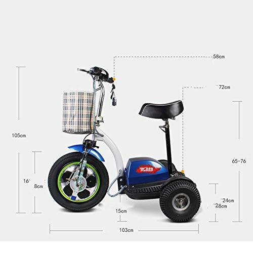 XYDDC Mini eléctrico Triciclo portátil Plegable al Aire ...