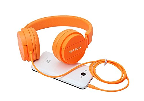 ONTA gorsun Foldable On Ear Audio Adjustable Lightweight Headphone for chlidren Cellphones Smartphones iPhone Laptop Computer Mp3/4 Earphones (Orange) by ONTA (Image #8)