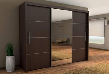 Inova - Armadio per camera da letto, stile moderno, ante scorrevoli ...