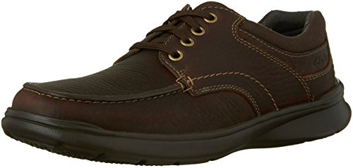 CLARKS Men's Cotrell Edge Oxford, Brown Oily Leather, 7.5 M US (Oxfords Casual Men)