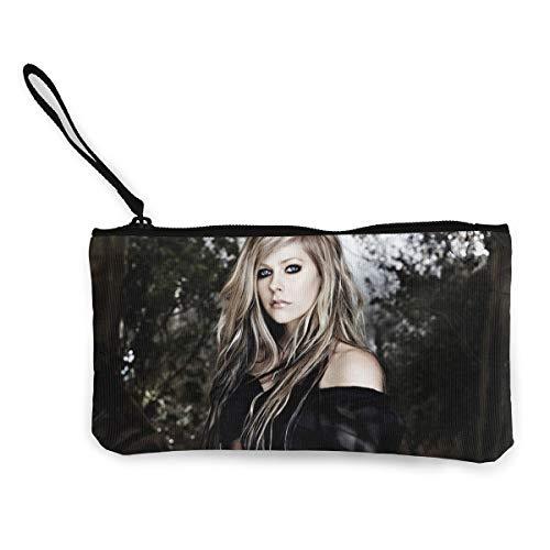l Lavigne Classic Wallet Coin Purse Canvas Zipper Money Card Pouch Wallet for Shopping ()