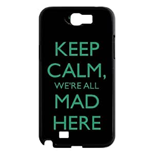 Chinese We're All Mad Here Personalized Case for Samsung Galaxy Note 2 N7100,custom Chinese We're All Mad Here Phone Case