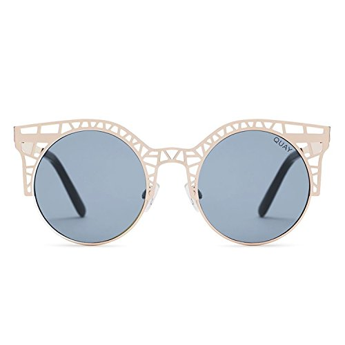 Quay Australia FLEUR Women's Sunglasses Cutout Metal Cat Eye Frame - - Chart Frame Glasses Size