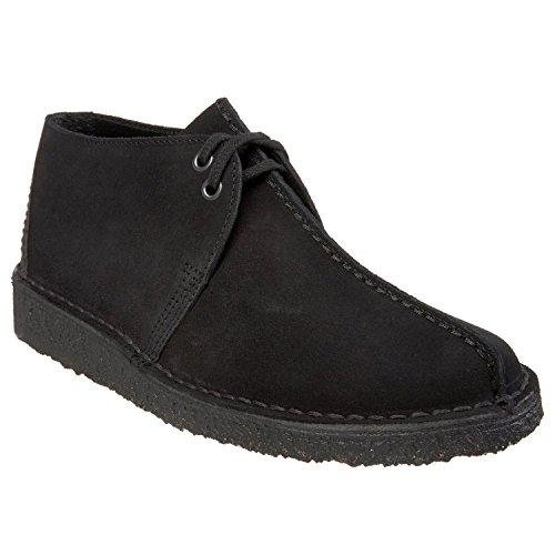 clarks-originals-desert-trek-black-suede-mens-boots-10-us