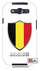 Cool Painting Premium Belgium Flag Badge Direct UV Printed Unique Quality Soft Rubber Case for Samsung Galaxy S4 I9500 - White Case