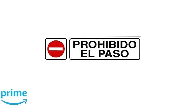 WOLFPACK Rotulo Adhesivo 250x63 Prohibido El Paso