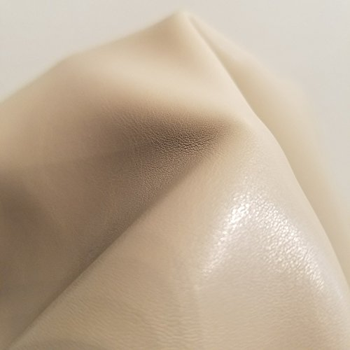 - Flesh Nude Beige Soft Faux Vegan PU Leather by The Yard Synthetic Pleather 0.9 mm Nappa 1 Yards (52 inch Wide x 36 inch Long) Soft Smooth Vinyl Upholstery (Bone, 1 Yard (36