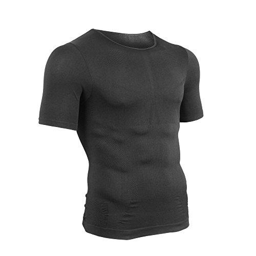 EXIO (에쿠시오) 가압 셔츠 남성 반팔 가압 속옷 자세 교정 압축 스포츠