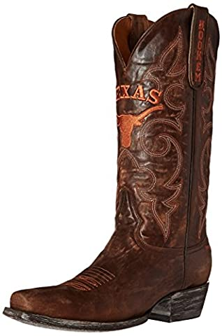 NCAA Texas Longhorns Men's Board Room Style Boots, Brass, 10.5 D (M) US (University Of Texas Boots)