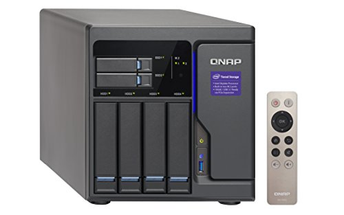 Qnap 6 Bay NAS/iSCSI IP-SAN, Intel Skylake Core i3-6100 3.7 GHz Dual core (TVS-682-i3-8G-US) by QNAP