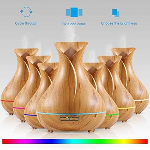VORCOOL Essential Oil Diffuser Vase Style Wood Grain 400ml