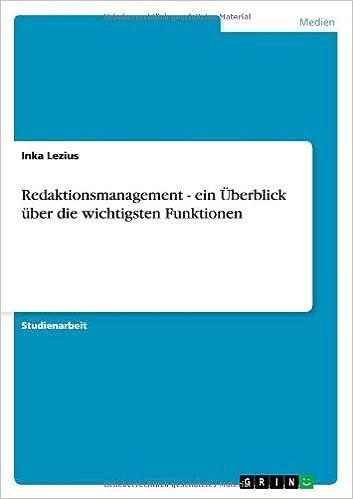 Book Redaktionsmanagement - ein Überblick über die wichtigsten Funktionen