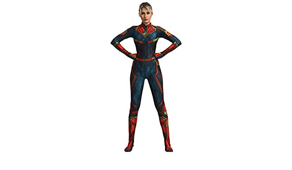 FYBR Disfraz de Capitán Marvel SuperSkin para Adultos, Unisex ...