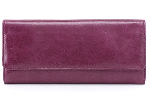 Hobo Womens Leather Sadie Continental Clutch Wallet (Eggplant)