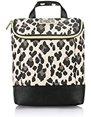 Itzy Ritzy Insulated Bottle Bag – Keeps Bottles Warm or Cool, Holds 3 Bottles and Features Interior Pocket For Ice Pack (Not Included), Leopard, 0.5 Pound