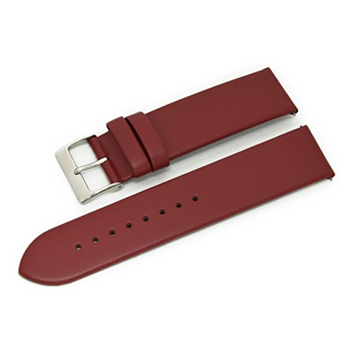 CASSIS Loire Genuine Calf Leather Watch Strap with Quick RELASE 20mm Burgundy with Tool X1026H19081020 ()