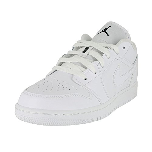 Jordan Kids AIR 1 Low BG White Black White Size 5.5 by Jordan