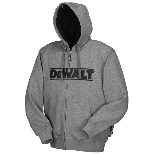 DEWALT DCHJ068B-L 20V/12V MAX Bare Hooded Heated Jacket, Gray, Large