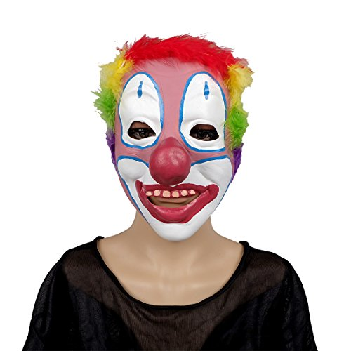 MISHIN Latex Clown Mask Adult Halloween Christmas Masquerade Party Funny Costumes Accessories (Cool Dress Up Ideas For Halloween)