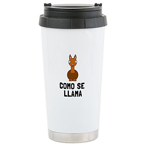 CafePress - Como Se LLama Travel Mug - Stainless Steel Travel Mug, Insulated 16 oz. Coffee (Tina The Llama Costume)