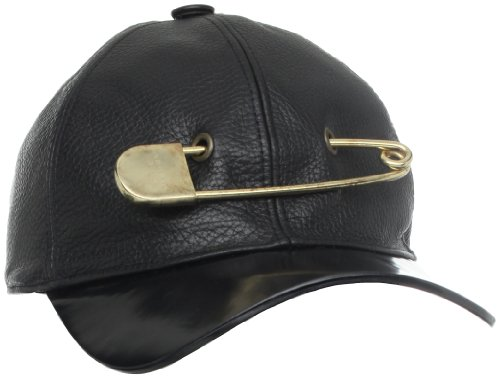 Marc Jacobs Men's Leather Pin Hat, Black, Medium
