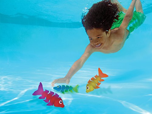 41TadFjXJHL - SwimWays Fish Styx Pool Diving Toys - Sinking Fish-Shaped Swim Toys - Pack of 3