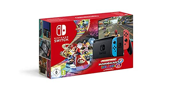 Console Nintendo Switch Mario Kart 8 Deluxe (Code de téléchargement du jeu inclus) [Importación francesa]: Amazon.es: Videojuegos